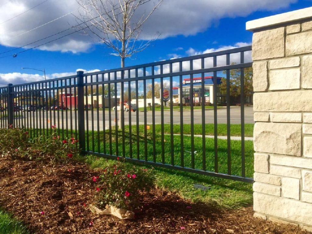 Ornate metal fence